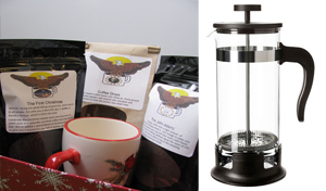 Christmas Gift Basket with 34oz French Press